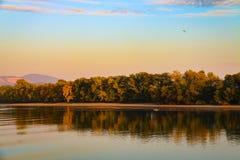 Canoeing на Donau Стоковая Фотография