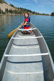canoeing озеро Стоковая Фотография