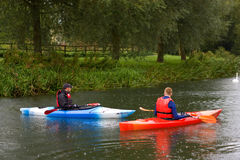 Canoeing Stock Image