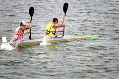 Canoeing Fotos de Stock