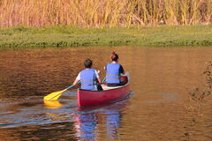 Canoeing Stockfoto