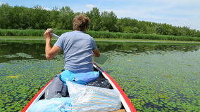 Canoeing Stockfoto