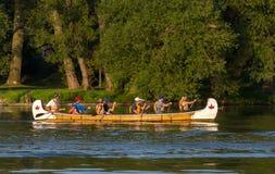 Canoeing Stockfotos