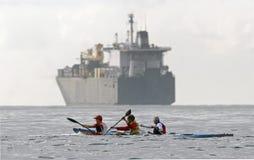028 Canoeing Imagens de Stock