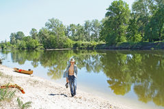Canoeing Lizenzfreies Stockfoto