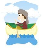 Canoeing Fotografie Stock