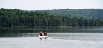 Canoeing in Algonquin Provincial Park Royalty Free Stock Images