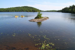 Canoeing in Algonquin Provincial Park Stock Photos
