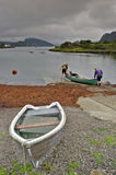 Canoeing auf dem Loch Carron Stockfoto