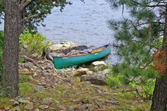 Canoeing in the Boundary Waters Canoe Area Royalty Free Stock Photos