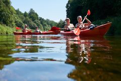 Free Canoeing By The River. Lithuania By The River Minija. Royalty Free Stock Photos - 123116258