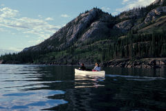 Canoeing canada Royalty Free Stock Photo