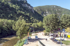Canoeing center in Madele Stock Images