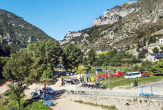Canoeing center in Madele Royalty Free Stock Images