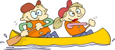 Canoeing couple Stock Photos