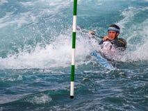 Canoeing da água branca Imagens de Stock