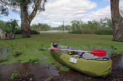 Canoeing de mare Photos libres de droits
