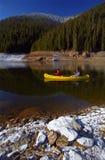 Canoeing del lago Fotografia Stock