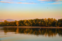 Canoeing on the Donau Stock Photography