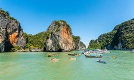 Canoeing em Koh Hong Island Imagem de Stock