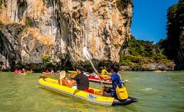 Canoeing em Koh Hong Island Imagem de Stock Royalty Free