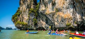 Canoeing em Koh Hong Island Foto de Stock Royalty Free