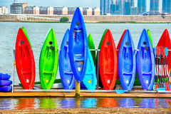 Canoeing entlang dem Ganjiang-Fluss Lizenzfreie Stockbilder