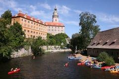 Canoeing in Europe Stock Photo