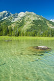 Canoeing in the grand tetons Stock Photography