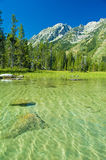 Canoeing in the grand tetons Royalty Free Stock Image