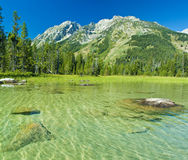 Canoeing in the grand tetons Stock Image