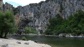 Canoeing, kayaking and rafting stock footage