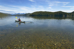 Canoeing in Kennedy Lake. Vancouver. British Columbia. Canada Stock Image