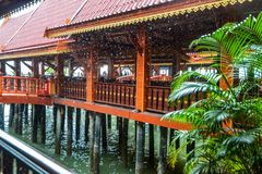 Koh Panyee settlement built on stilts of Phang Nga Bay, Thailand. Canoeing at Koh Hong IslandPhang-Nga, Thailand Thailand 21 MAY 2017 : Koh Panyee settlement Stock Images