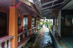 Koh Panyee settlement built on stilts of Phang Nga Bay, Thailand. Canoeing at Koh Hong IslandPhang-Nga, Thailand Thailand 21 MAY 2017 : Koh Panyee settlement Stock Photography