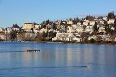 Canoeing at Lake Royalty Free Stock Image