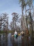 Canoeing in Manchac-Sumpf Lizenzfreies Stockfoto