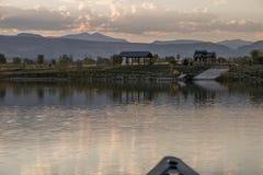 Canoeing no reservatório de Lagerman Foto de Stock