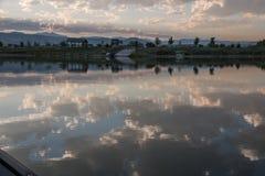 Canoeing no reservatório de Lagerman Imagem de Stock Royalty Free