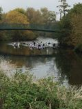 Canoeing no rio Avon Foto de Stock