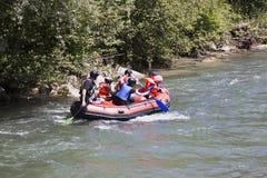 Canoeing over Moll river, Flattach, Austria Stock Photos