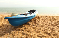 Canoeing Park auf dem Strand Lizenzfreie Stockfotografie