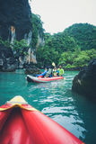 Canoeing Phang Nga Bay Stock Image