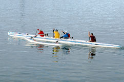Canoeing - Recreation and Sport Royalty Free Stock Image