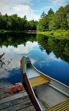 Solitude on the river. Canoeing on the river Stock Photos