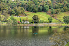 Canoeing on Rydal Water royalty free stock images
