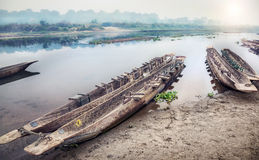 Canoeing safari in Chitwan Stock Photography