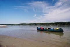 Canoeing Serbia Stock Image
