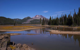 Canoeing on Sparks Lake Stock Images