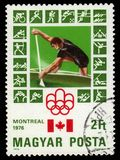 Canoeing, 21st Summer Olympics, Montreal 1976 Royalty Free Stock Photos